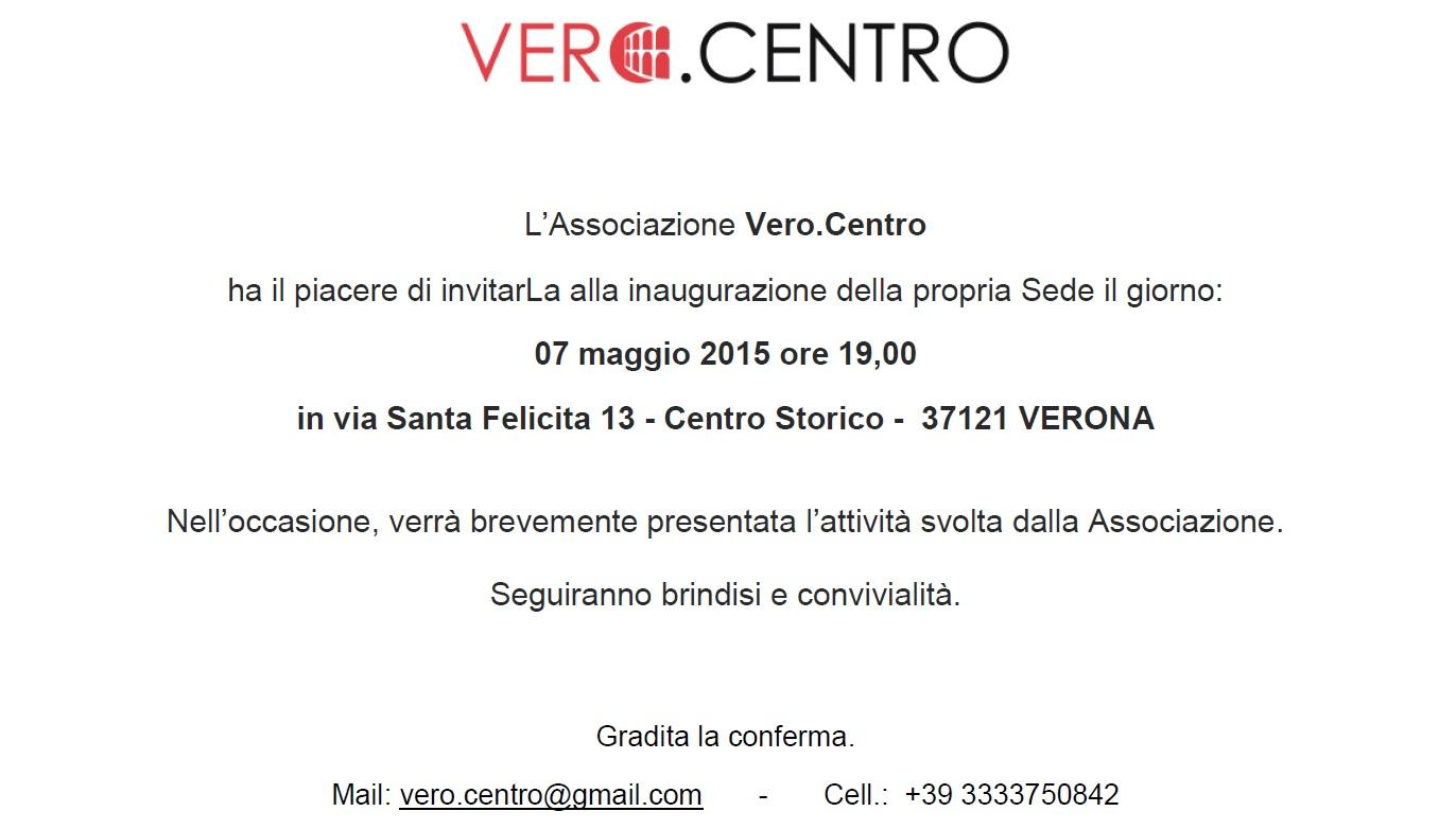 Importante Invito Personale All Inaugurazione Della Nuova Sede 7 Maggio 2015 Verocentro